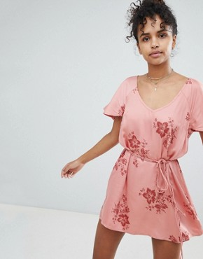 photo Floral Beach Dress by Billabong, color Sunburnt - Image 1