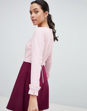 photo Steyla Ruffle Dress by Ted Baker, color Dusky Pink - Image 2