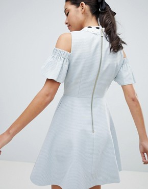 photo Araye Skater Dress with Embellished Collar by Ted Baker, color Baby Blue - Image 2