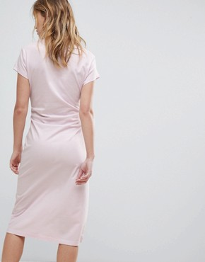 photo Side Tie Midi Dress by Cheap Monday, color Pale Pink - Image 2