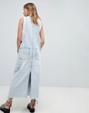 photo 90s Dungaree Dress by Cheap Monday, color Tom Blue - Image 2