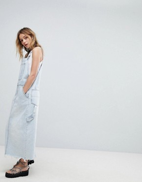 photo 90s Dungaree Dress by Cheap Monday, color Tom Blue - Image 4