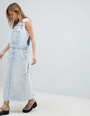 photo 90s Dungaree Dress by Cheap Monday, color Tom Blue - Image 1