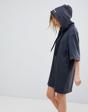 photo Scibbled Logo Hoody Dress by Cheap Monday, color Off Black - Image 1