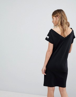 photo Off the Shoulder Dress with Sleeve Logo by Cheap Monday, color Black - Image 2