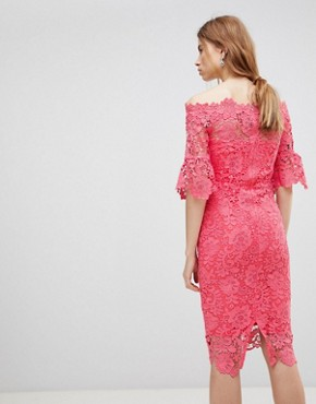 photo Crochet Dress by Paper Dolls, color Pink - Image 2