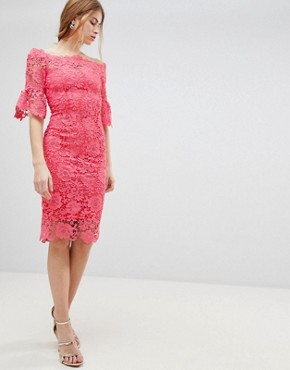 photo Crochet Dress by Paper Dolls, color Pink - Image 1