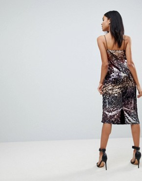 photo Ombre Sequin Midi Dress by Club L, color Multi - Image 2