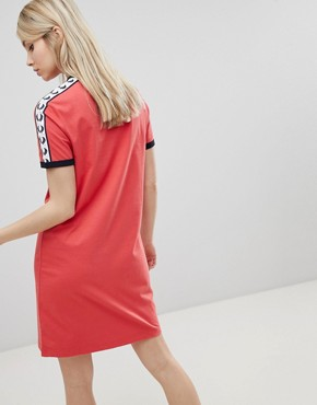 photo Logo Tape Ringer T-Shirt Dress by Fred Perry, color  - Image 2