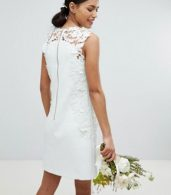 photo Tie the Knot Tunic Bridesmaid Dress with Applique Lace by Ted Baker, color Mint - Image 2