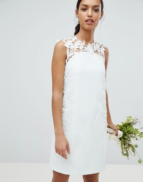 photo Tie the Knot Tunic Bridesmaid Dress with Applique Lace by Ted Baker, color Mint - Image 1