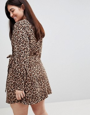 Wrap Dress With Asymmetric Hem - Leopard print Unique 21 kXyvZI