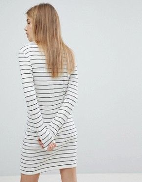 photo Striped Bodycon Dress by JDY, color White - Image 2