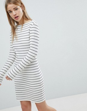photo Striped Bodycon Dress by JDY, color White - Image 1