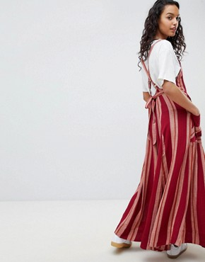 photo Chanti Stripe Maxi Dress by Free People, color Red Combo - Image 2