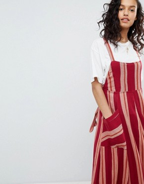 photo Chanti Stripe Maxi Dress by Free People, color Red Combo - Image 1