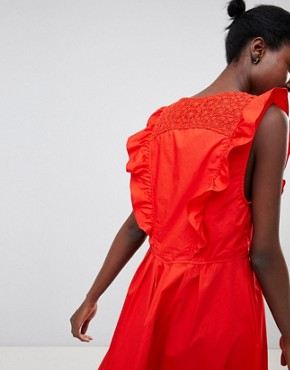photo Half Moon Smock Dress by Free People, color Red - Image 2