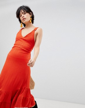 photo Into You Maxi Dress by Free People, color Red - Image 1
