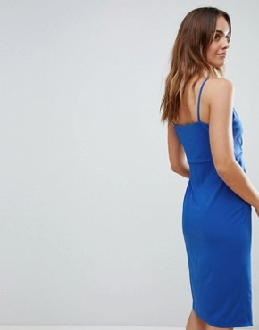 photo Plunge Front Wrap Dress by Ivyrevel, color Cobalt - Image 2