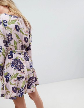 photo Floral Printed Wrap Dress by Minkpink, color Multi - Image 2