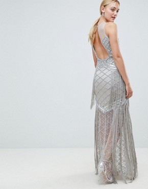 photo Embellished Maxi Dress with Iridescent Sequins by A Star Is Born Tall, color Silver - Image 2