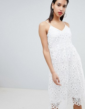photo Lace Cami Dress by Vila, color White - Image 1