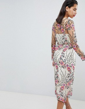 photo Embroidered Floral Midi Dress by Vila, color Multi - Image 2