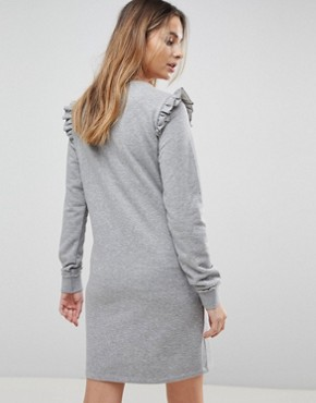 photo Maternity Frill Jumper Dress by Supermom, color Grey Melange - Image 2