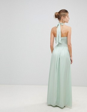 photo Halterneck Maxi Dress by Little Mistress, color Mint - Image 2