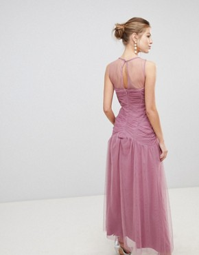 photo Knot Waist Maxi Dress by Little Mistress, color Rose - Image 2