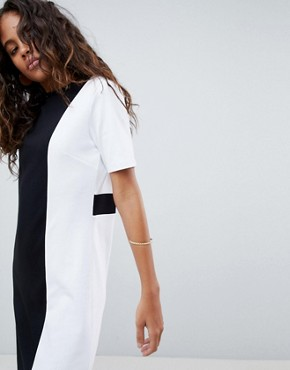 photo T-Shirt Dress in Mono Colourblock by ASOS DESIGN Tall, color Multi - Image 3