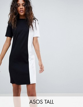 photo T-Shirt Dress in Mono Colourblock by ASOS DESIGN Tall, color Multi - Image 1