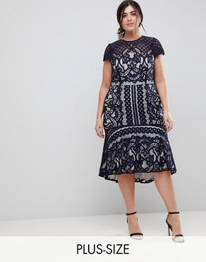 photo Dee Dee Lace Dress by Coast Plus, color Navy - Image 1