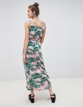 photo Adali Palmleaf Print Slip Dress by Blend She, color  - Image 2