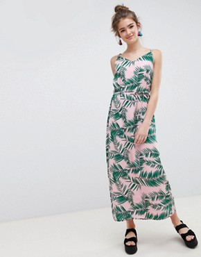 photo Adali Palmleaf Print Slip Dress by Blend She, color  - Image 1