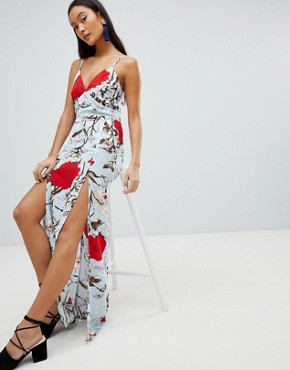 photo Floral Maxi Dress by Parisian, color Multi - Image 1