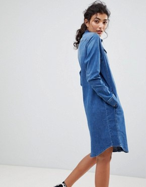 photo Western Denim Dress by Lee, color Bright Mid - Image 2