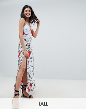 photo Floral Maxi Dress by Parisian Tall, color Multi - Image 1