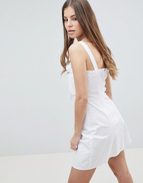photo Cami Sun Dress by Fashion Union, color White - Image 2
