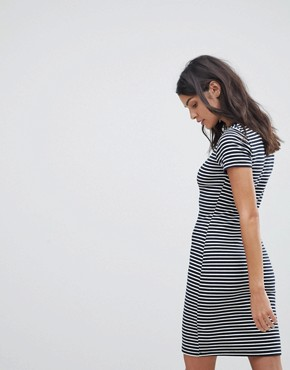 photo Stripe T-Shirt Dress by Abercrombie & Fitch, color Navy/White Stripe - Image 2