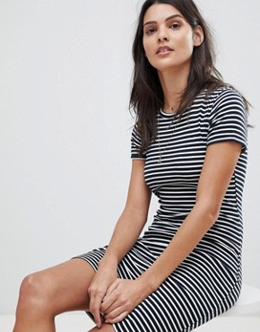 photo Stripe T-Shirt Dress by Abercrombie & Fitch, color Navy/White Stripe - Image 4