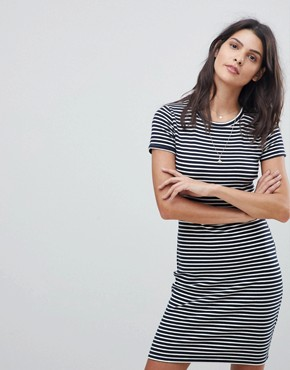 photo Stripe T-Shirt Dress by Abercrombie & Fitch, color Navy/White Stripe - Image 1