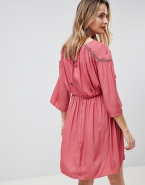 photo Boho Kimono Sleeve Dress by Mama.licious, color Pink - Image 2