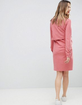 photo 2-In-1 Dress by Mama.licious, color Pink Marl - Image 2