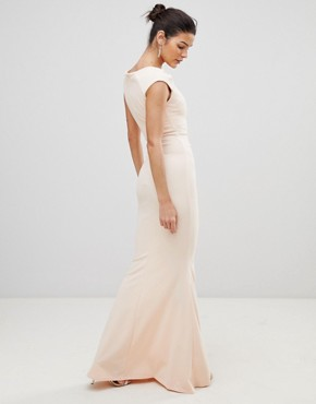 photo Pleated Maxi Dress by City Goddess, color Pale Pink - Image 2