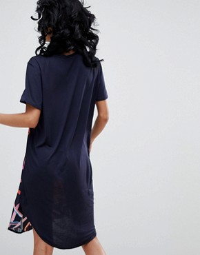 photo Silk and Jersey Dress by PS by Paul Smith, color Navy - Image 2