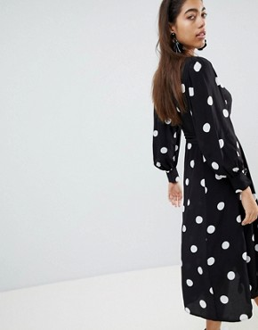 photo Large Spot Midi Tea Dress by Mango, color Multi - Image 2