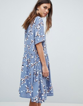 photo Printed Smock Dress by Y.A.S, color Multi - Image 2