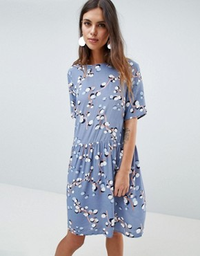 photo Printed Smock Dress by Y.A.S, color Multi - Image 1
