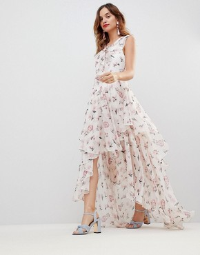 photo Soft Tiered Maxi Dress by Y.A.S, color Multi - Image 4